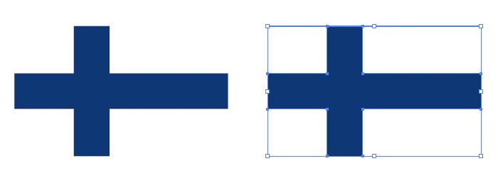 青・白の組み合わせからなるフィンランドの国旗
