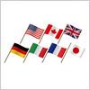 G7(ジーセブン)の揺らめく国旗・フラッグイラストセット