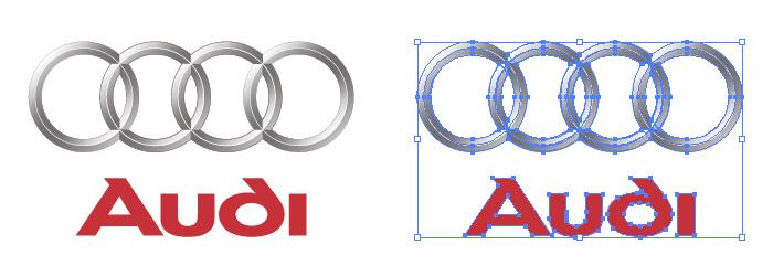 アウディ(Audi)のロゴマーク