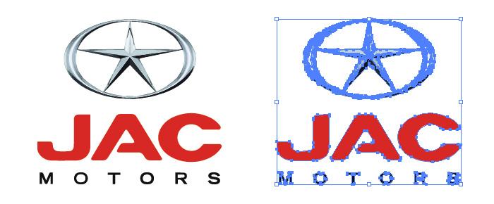 中国の自動車メーカー、JAC MOTORSのロゴマーク