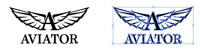 アビアトール(AVIATOR)のロゴマーク