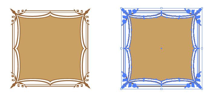 西洋風な正方形の枠・フレーム