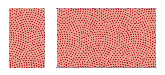 鮫小紋柄のパターン