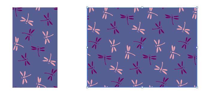 とんぼ(勝ち虫)のイラストを用いた和柄のパターン