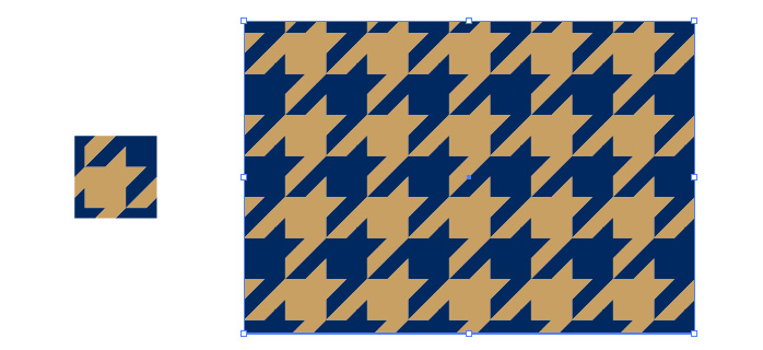 ハウンドトゥース(千鳥格子)柄のパターン