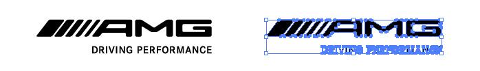メルセデス・エイエムジー(AMG)のロゴマーク