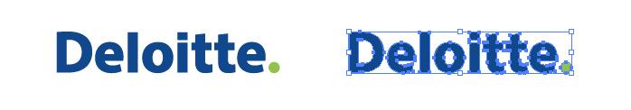 デロイト トウシュ トーマツ(Deloitte Touche Tohmatsu)のロゴマーク