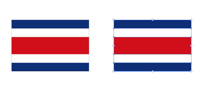コスタリカの国旗パスデータ