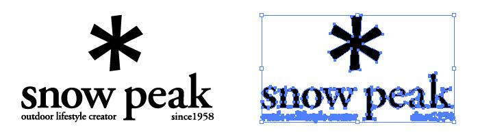 スノーピーク(snow peak)のロゴマーク