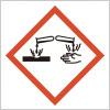 接触した金属または皮膚等を損傷させる恐れを表すGHSシンボルマーク
