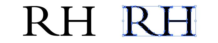 RH(レストレーション・ハードウェア)のロゴマーク