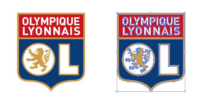 オリンピック・リヨンのロゴマーク
