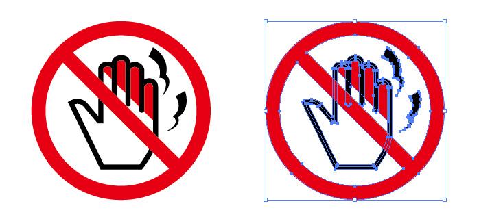 高温危険標識アイコンイラスト