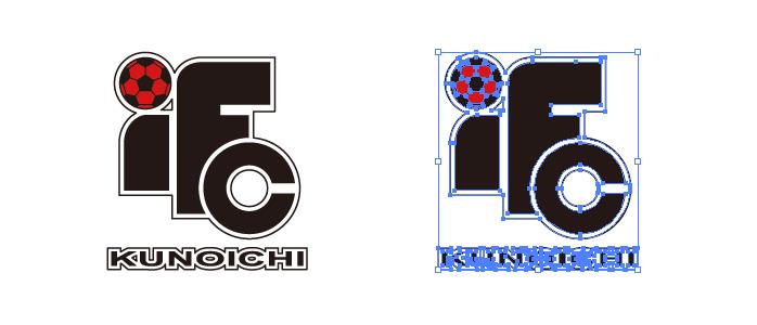伊賀フットボールクラブ くノ一のロゴマーク