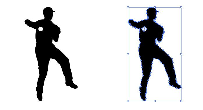 野球の守備でジャンピングスローをする男性のシルエットイラスト