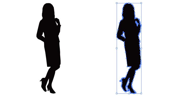 会社員女性のシルエット・影絵素材