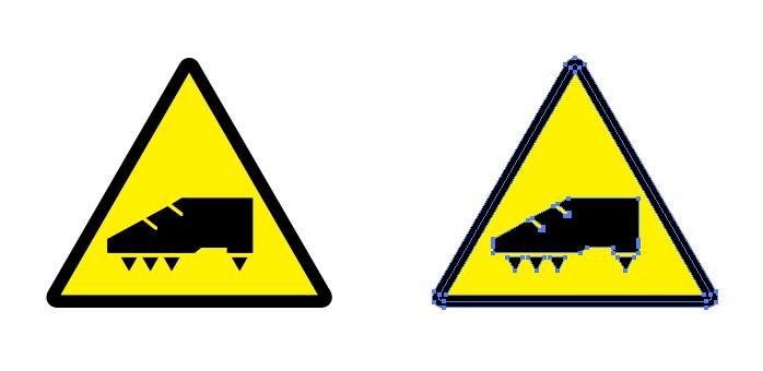 スパイクの使用注意を表す標識アイコンマーク