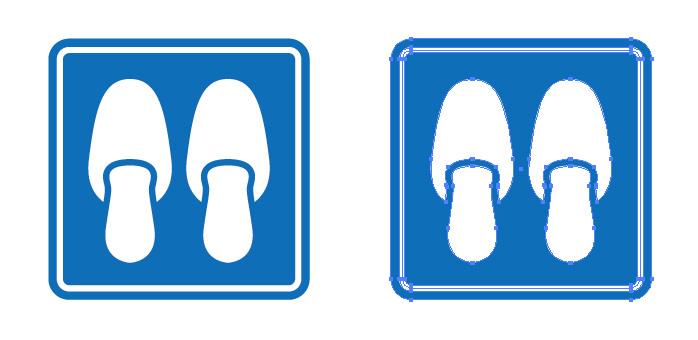 スリッパを表す案内標識アイコンマーク