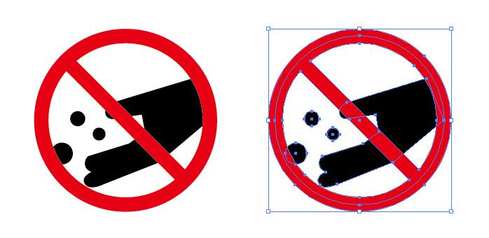 餌やり エサ 禁止を表す標識アイコンマーク