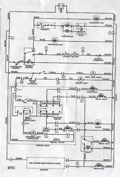 Wiring Diagram Westinghouse Fridge : Wiring diagram ge side by refrigerators the