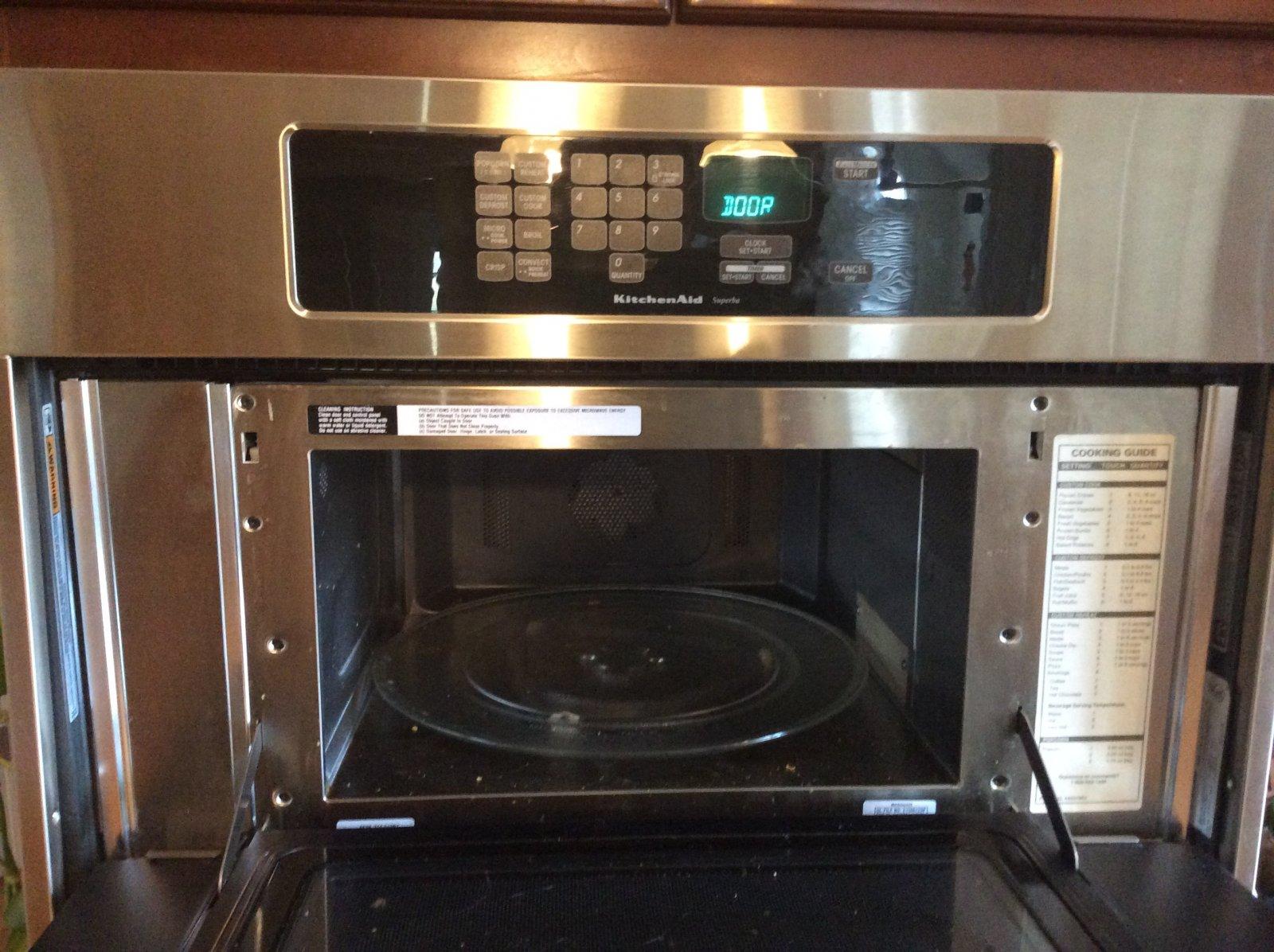 fix a kitchenaid microwave door latch