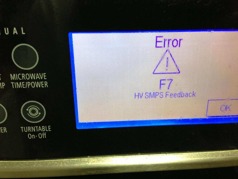 whirlpool gold series error code f7