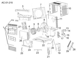Parts for ESA3069L   Haier   Air Conditioners