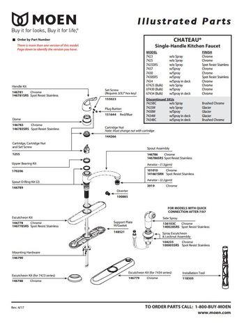 moen 146789 replacement part faucet