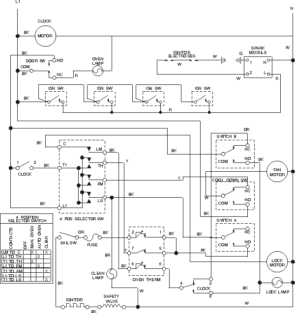 oven circuit  stove wiring diagrams  troubleshooting