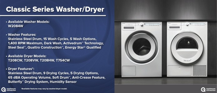 Comparing Asko Washer and Dryer Series: Classic Series