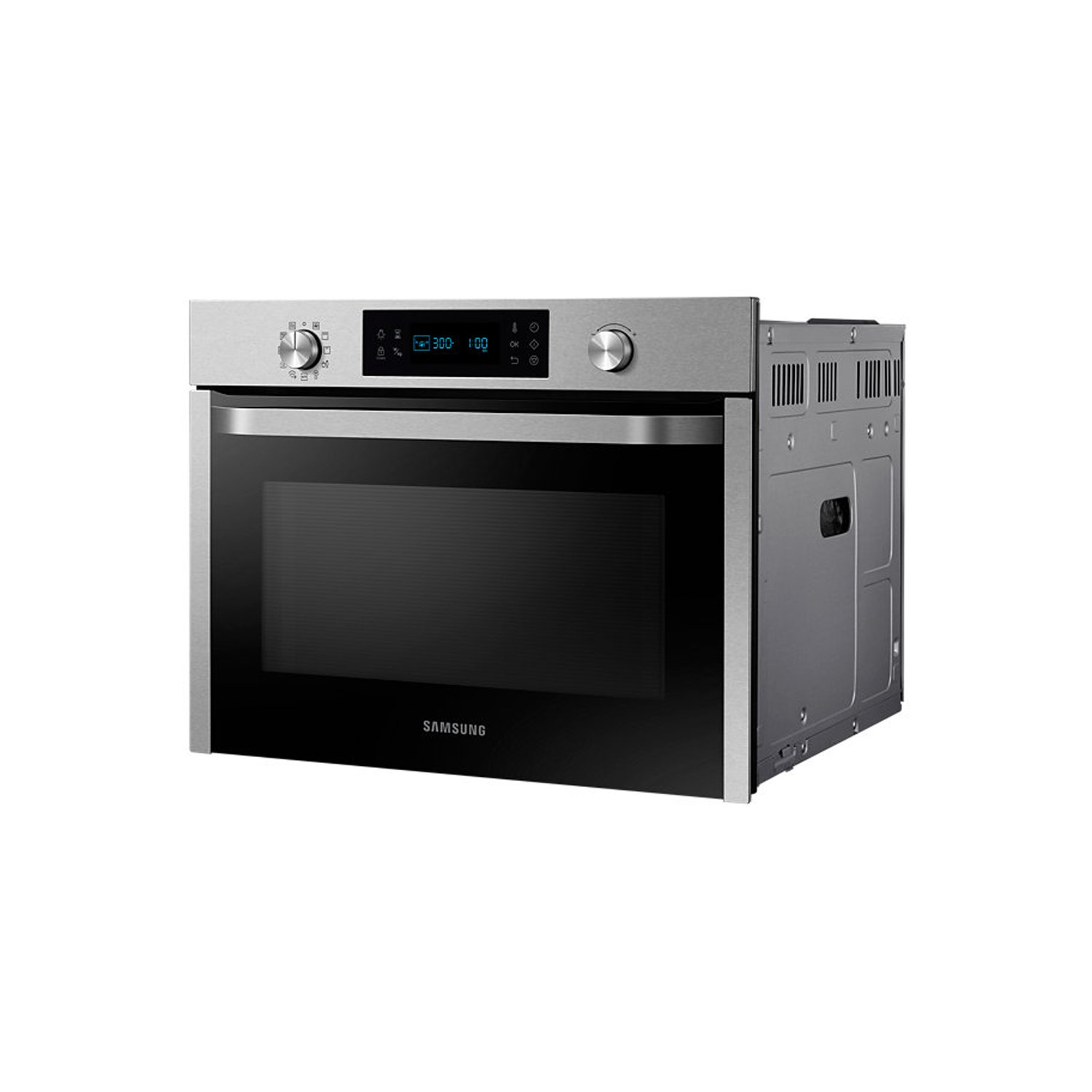 samsung nq50j3530bs compact height combination microwave oven stainless steel