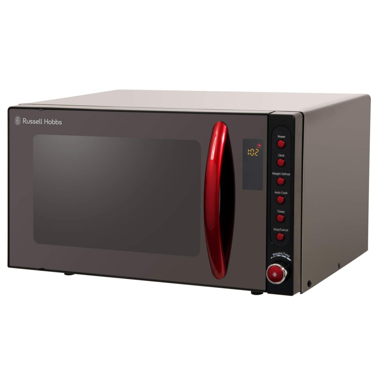 russell hobbs rhm2080br 20l 800w freestanding microwave in black red