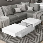 Coffee Table With Storage White