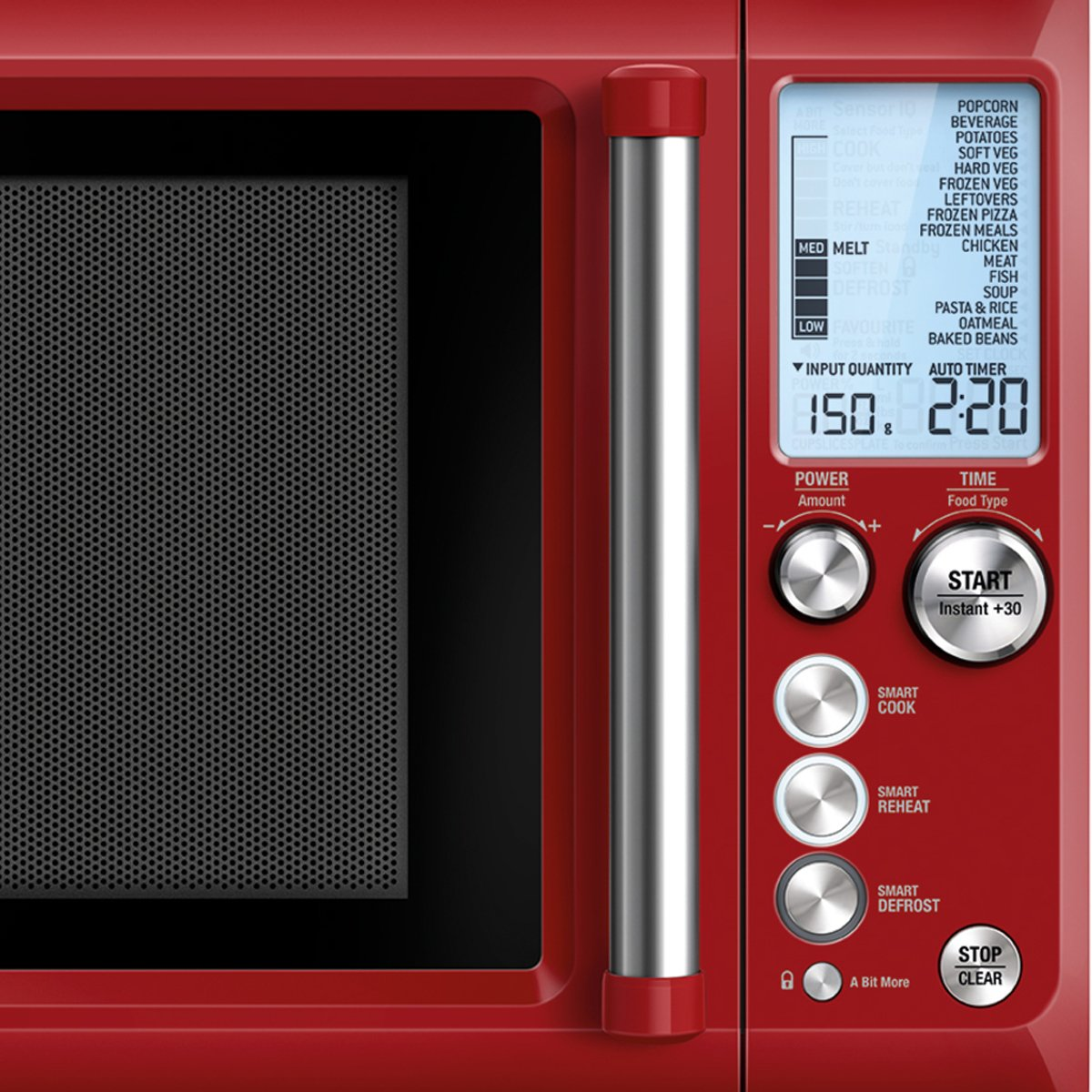 breville bmo735cr quick touch microwave oven 1100w