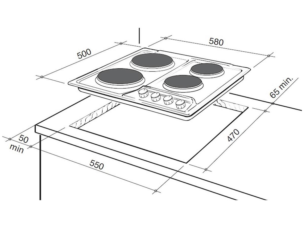 New Delonghi Deh60sx1 60cm Electric Cooktop