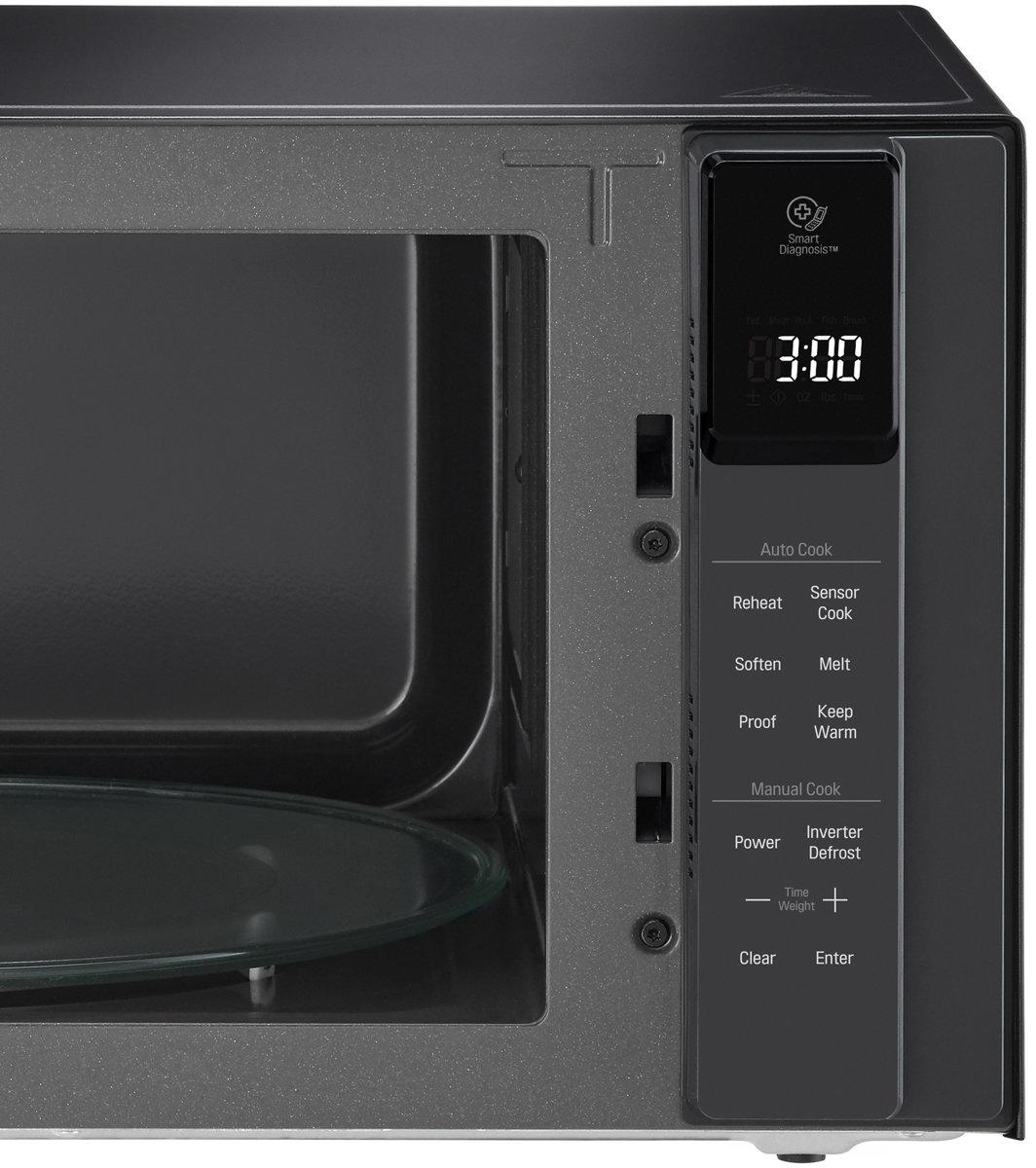 lg ms4296obss 42l neochef smart inverter 1200w black microwave oven