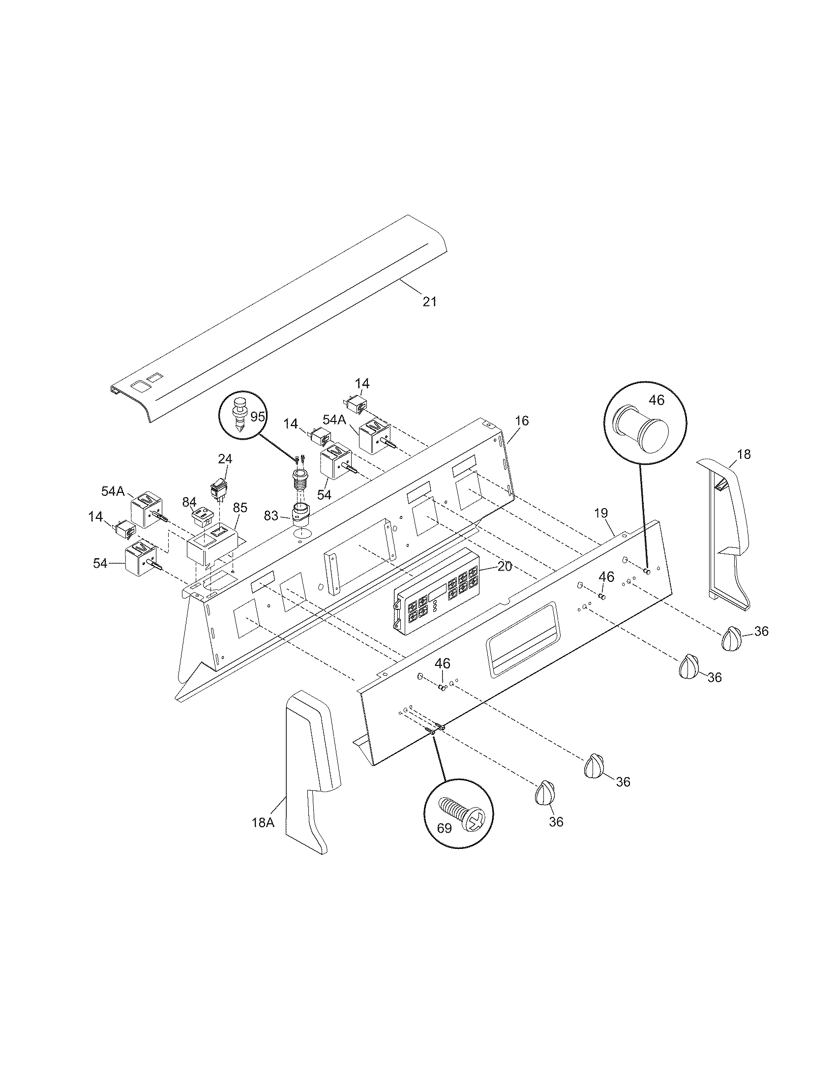 Cfef372bc1 electric range backguard parts diagram