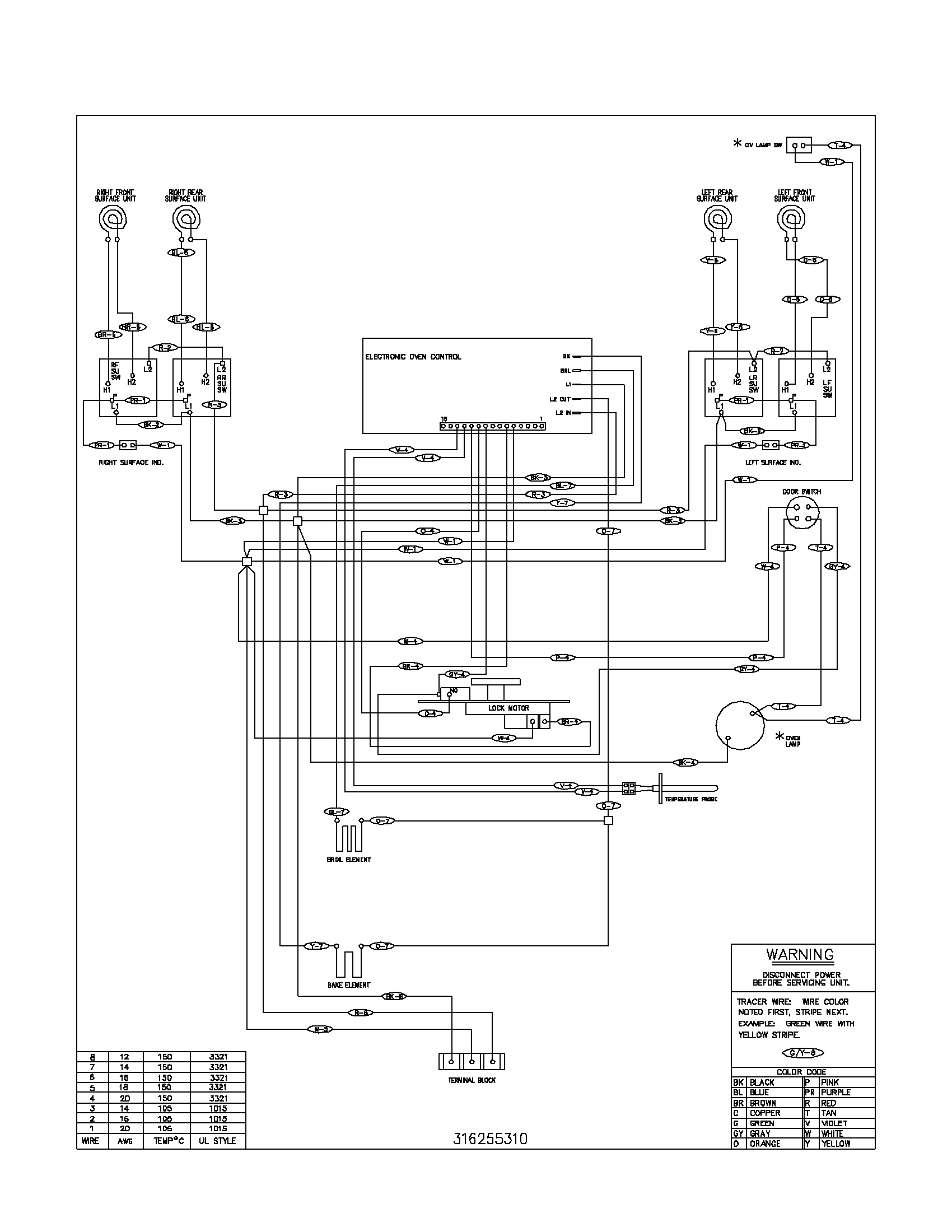 Refrigerator Wiring Diagram Parts