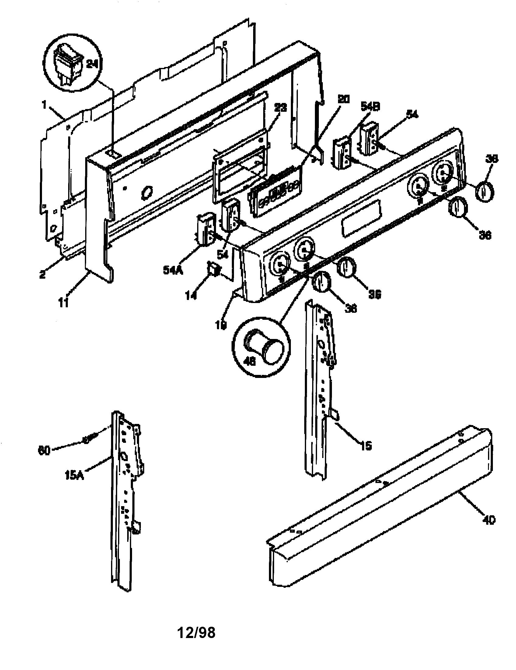 Frigidaire Fef367catb Electric Range Timer