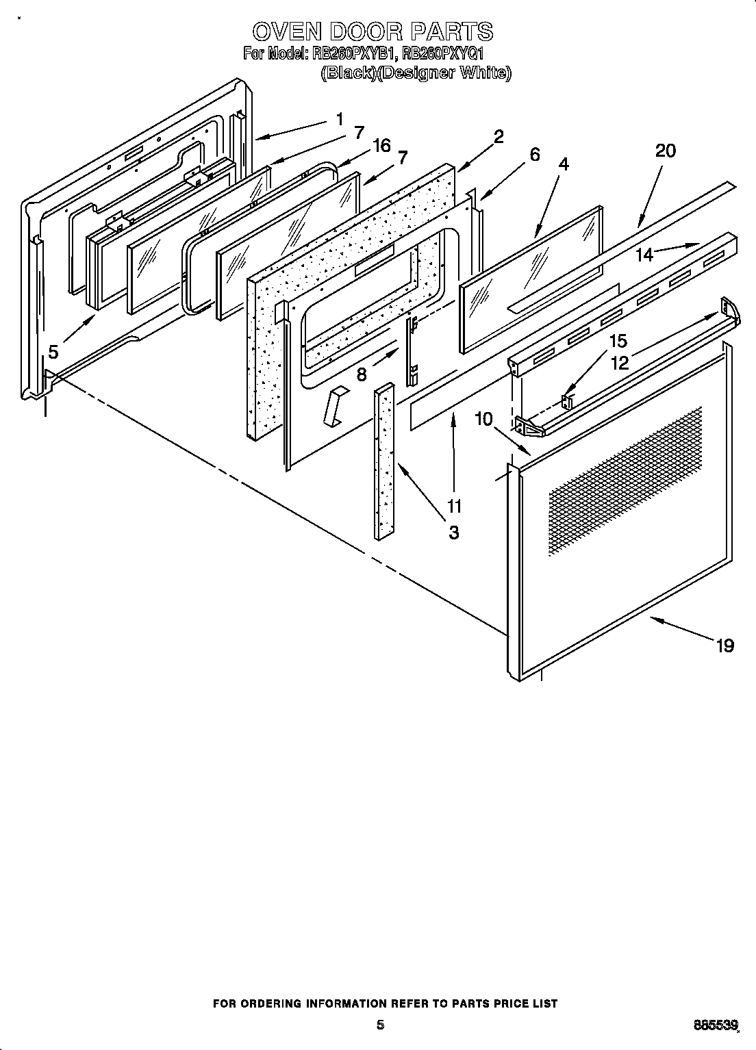 Whirlpool Oven Door Parts Diagram