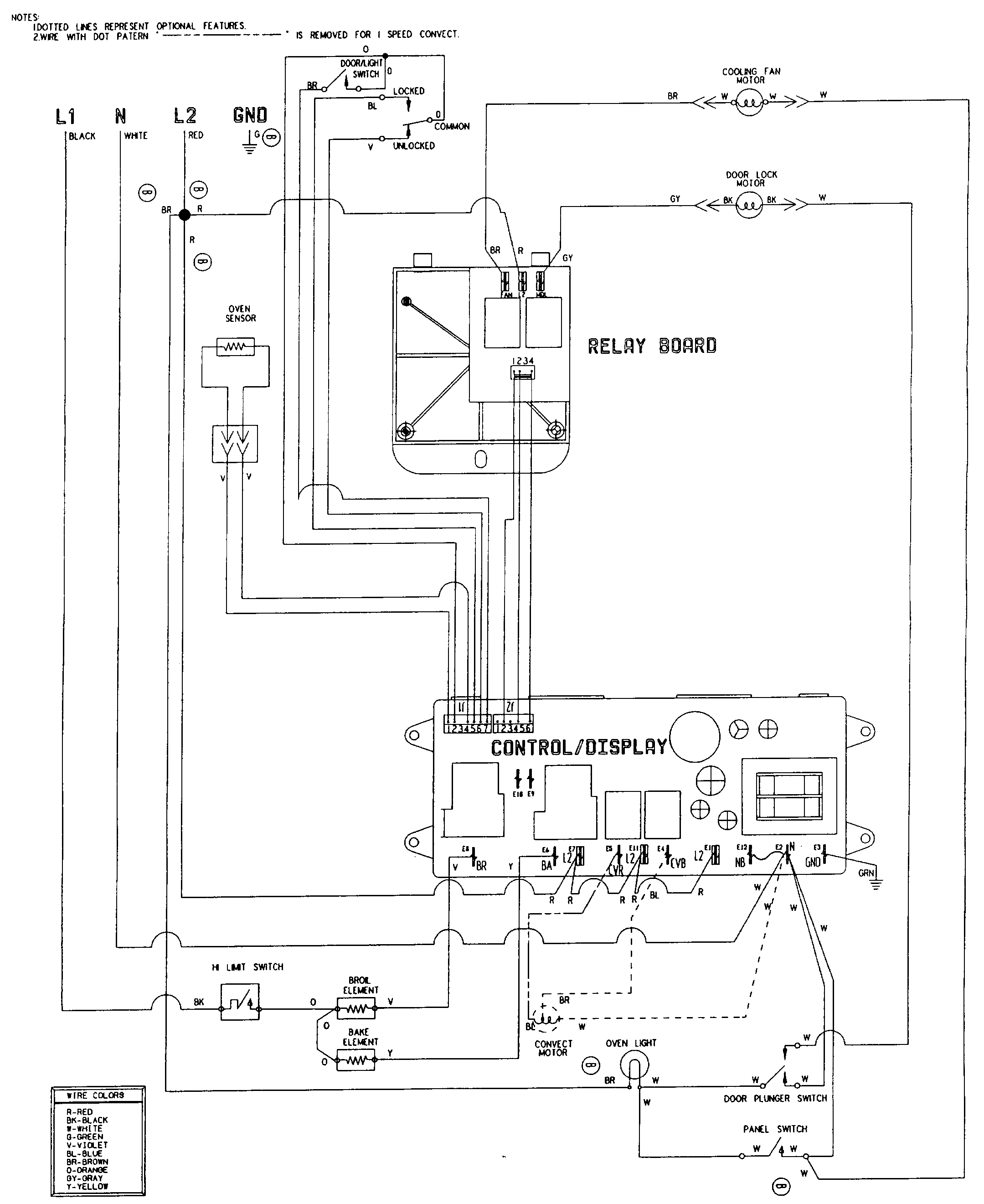 W27100w electric wall oven wiring information parts diagram