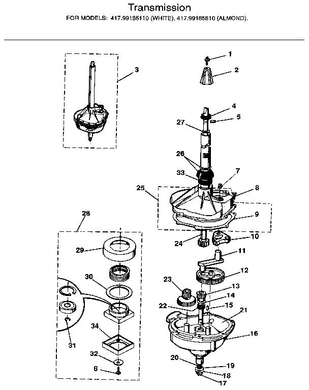 kenmore 18 dishwasher diagram