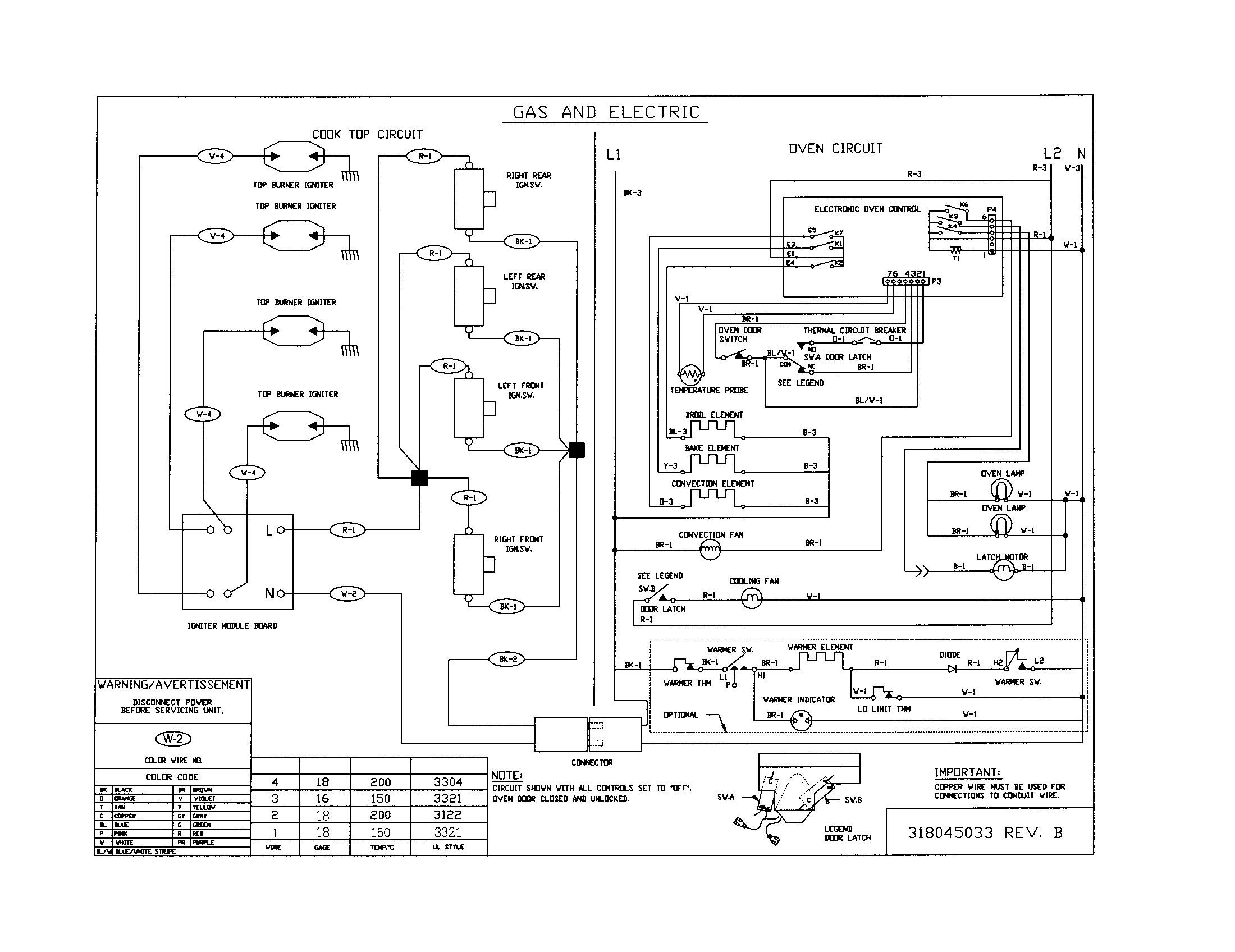 industrial oven electrical schematics
