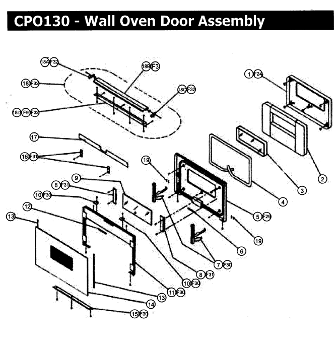 Cpo230 Wall Oven Chis Y Parts Diagram