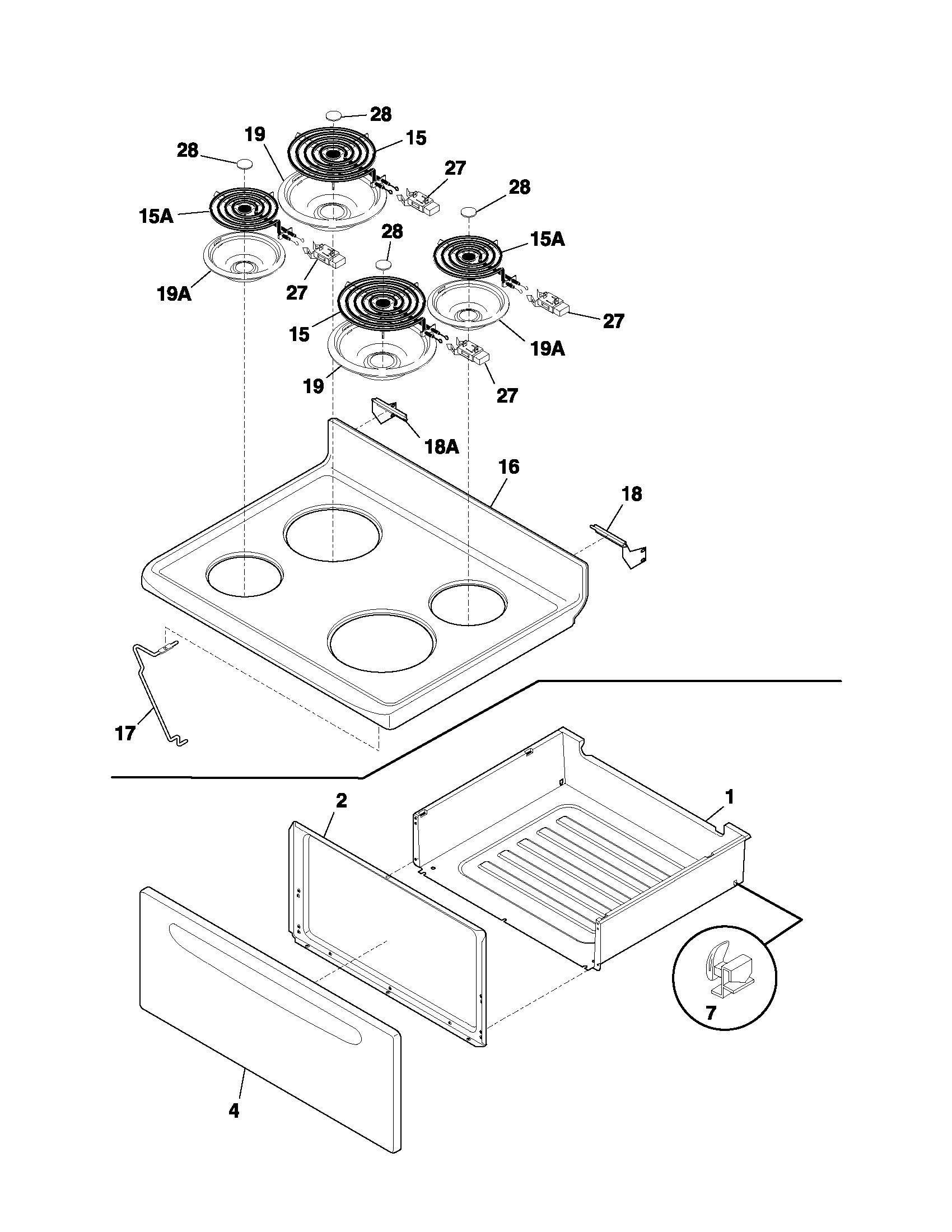 Frigidaire Spare Parts