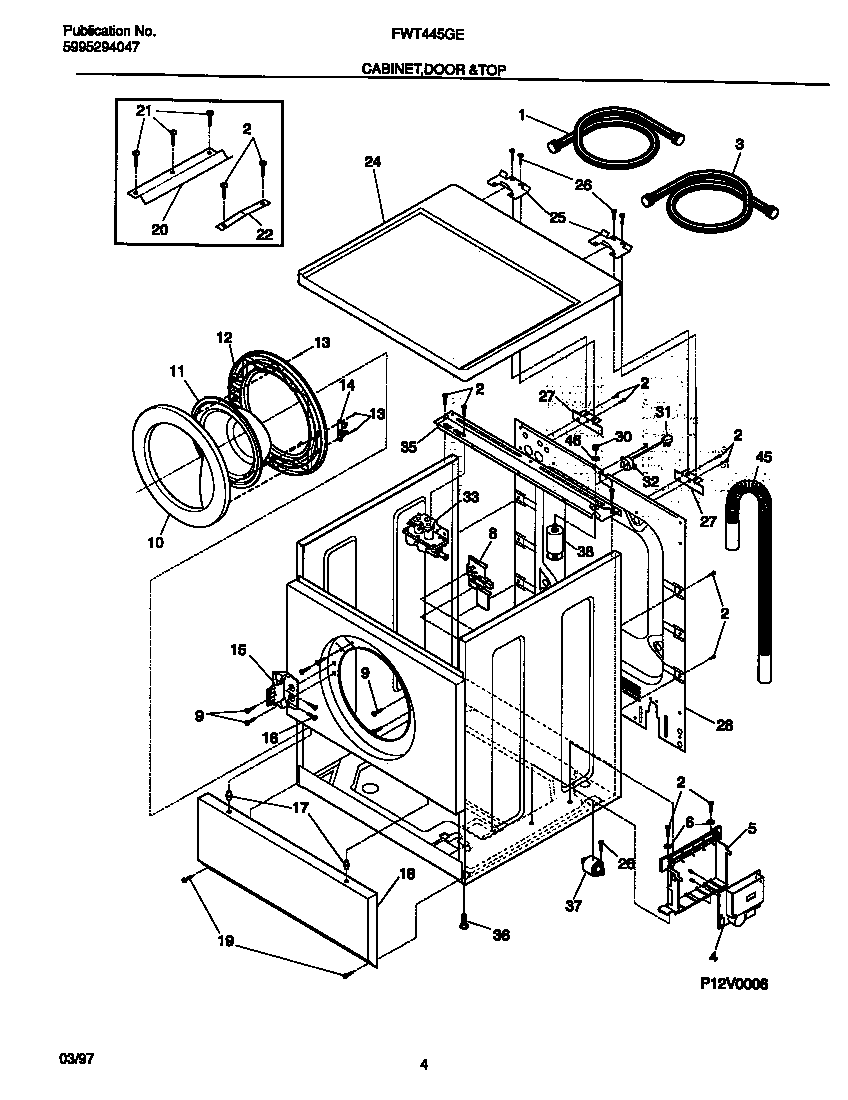 Electrolux Washer Parts Diagram