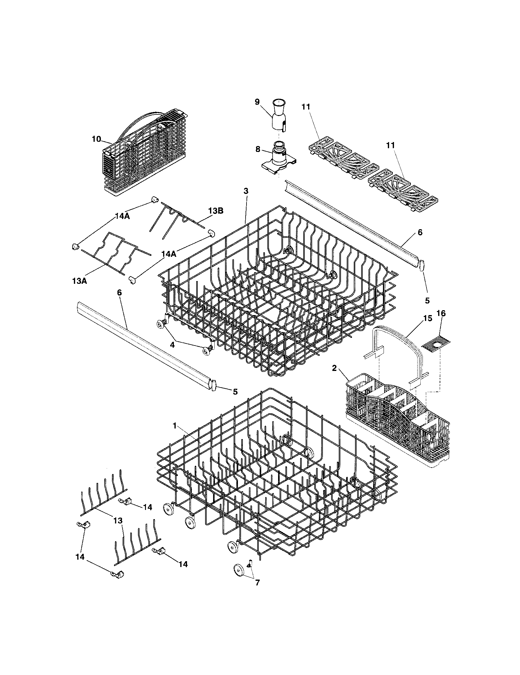34 Frigidaire Dishwasher Parts Diagram