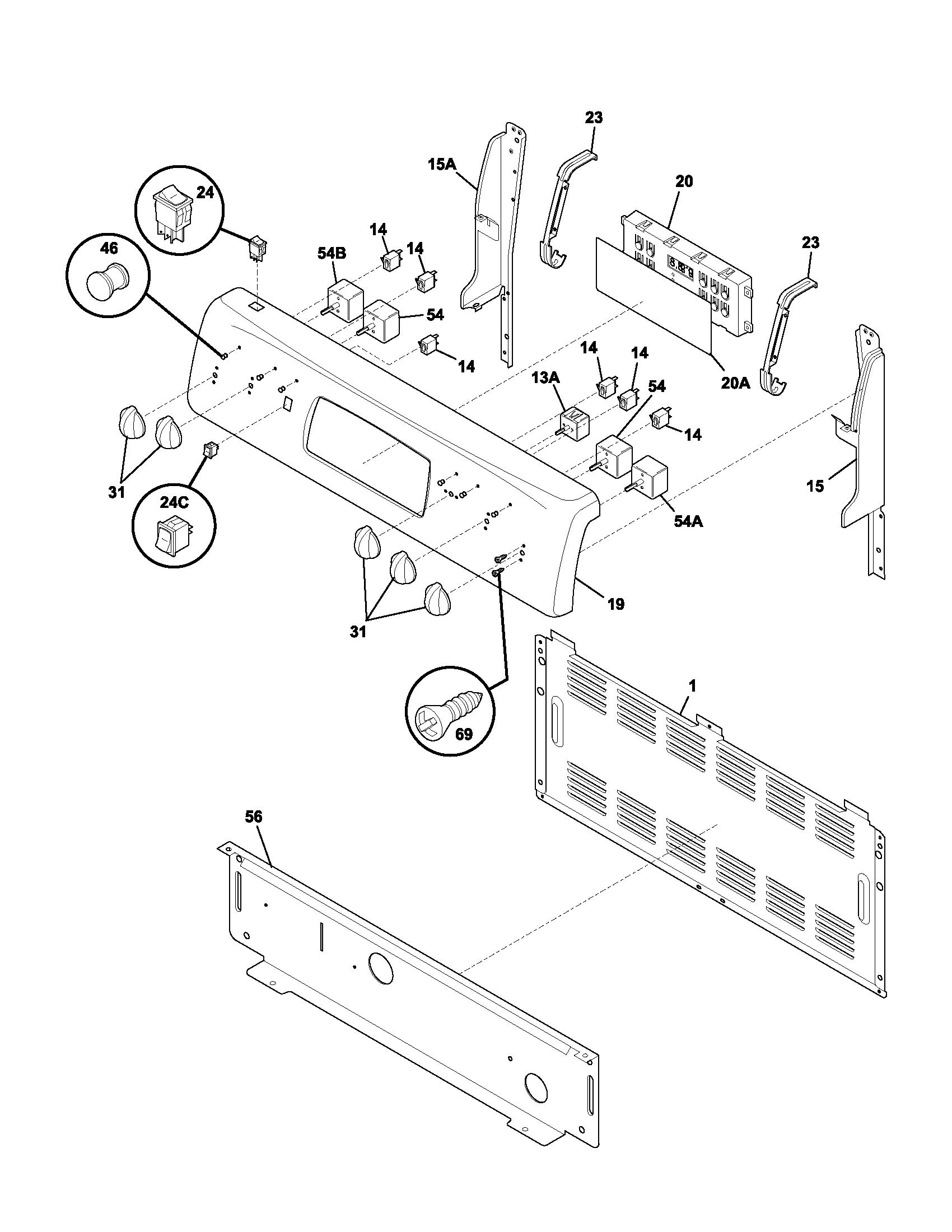Frigidaire Glef378cqb Electric Range Timer