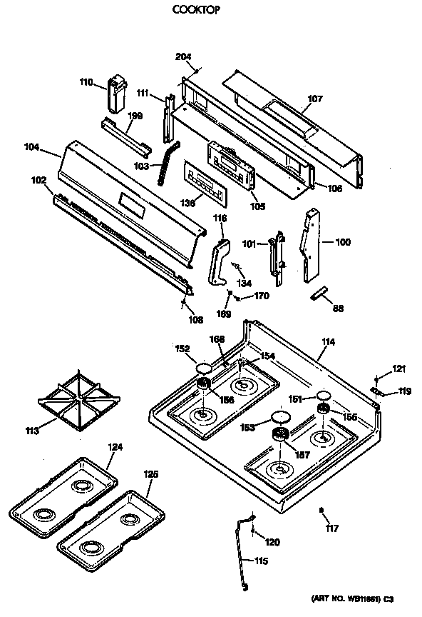 Spectra Stove Replacement Parts