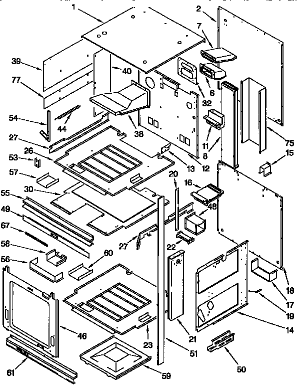 wiring diagram for kitchenaid range wiring wiring diagrams online kgbs276xblo gas range external oven parts diagram kitchenaid
